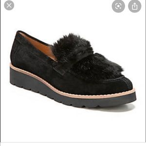 Shoes - Franko Sarto Harriet black loafers 9.5 faux fur